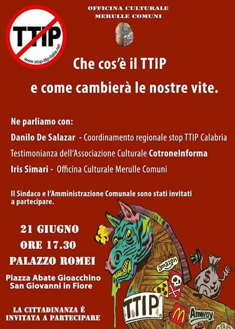 Locandina TTIP san giovanni